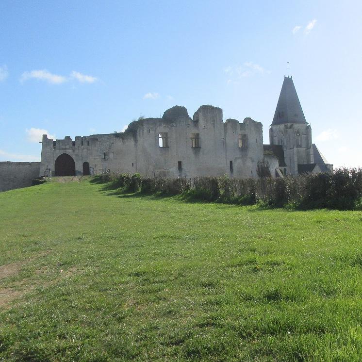 Picquigny castle and church