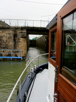 Leaving the first, deep, lock behind