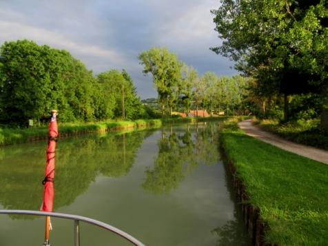 Calm canal evening