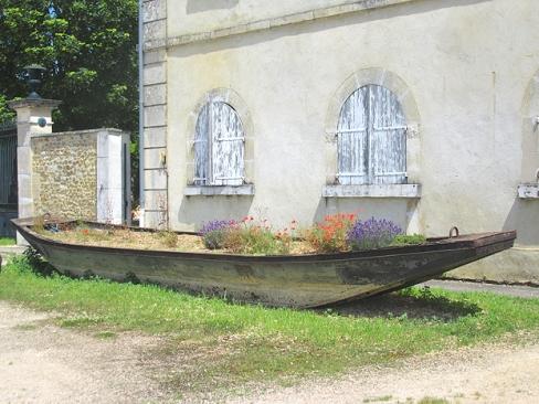 Old bargette flowerbed