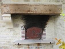 Rebuilt communal bread oven