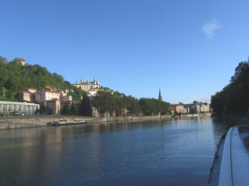 Lyon, from our mooring