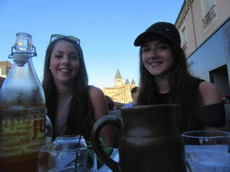 Girls and basilica