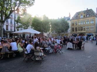 Summer evening market place