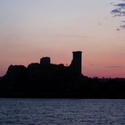 "Chateau de l""Hers, dawn"