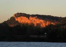 Mornas fortress, sunset
