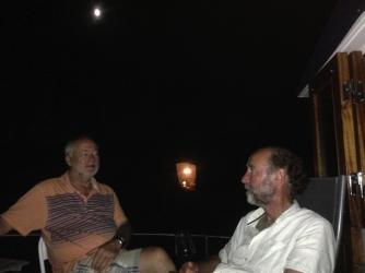 Dave and Stu in the moonlight
