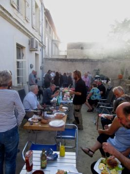 Bbq behind the Capitainerie
