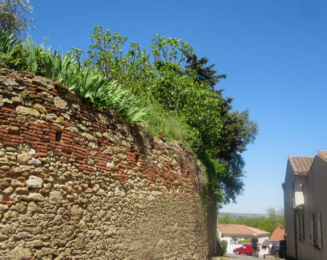 Gardouche chateau wall