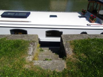 Stone steps to the boat