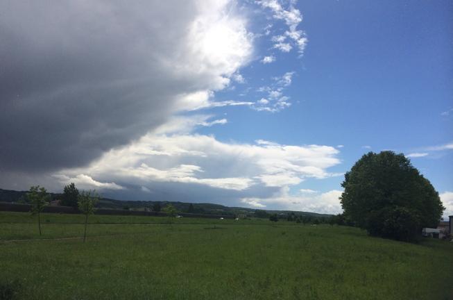 Boé storm clouds