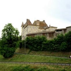 Castets chateau with Stu