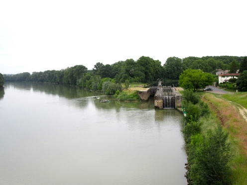 The canal joins the river