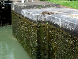 Position of original lock gates