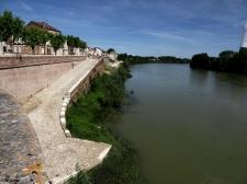 Le Garonne down to power station (left)