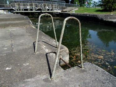 Unusual wrought iron ladder