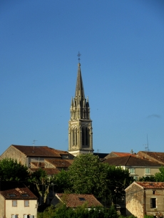 Church spire - sunny day