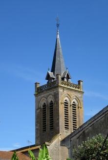 Damazan church spire