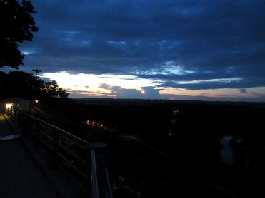 Meilhan-sur-Garonne, view from the top night