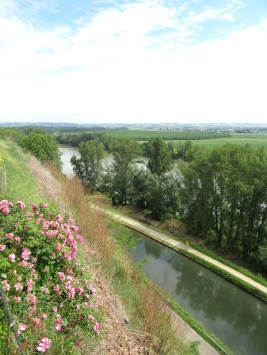 View down to canal and river