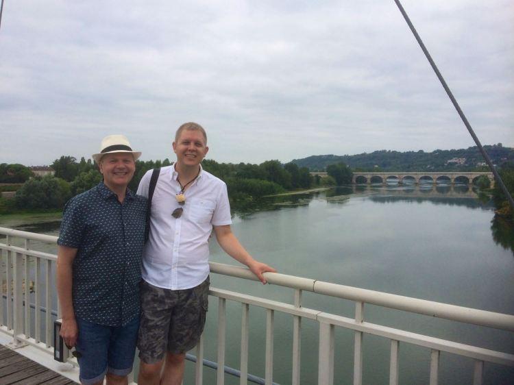 Roy and Pieter on passerelle, Agen