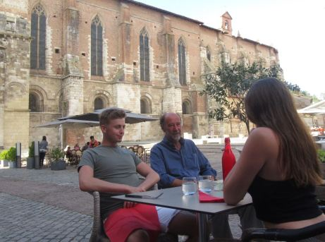 Dinner by the abbey, Moissac