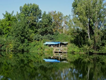 Fishing hut, Tarn near Moissac