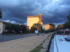 Sudden sun on the silo