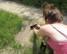 Keeva finds a photographic grasshopper