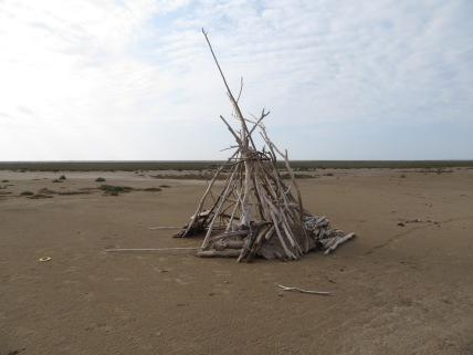 Driftwood tepee
