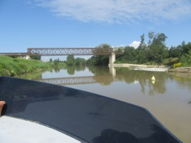Out on L'Aude, past the weir
