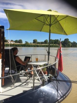 CAtaon surveys the river at Arles