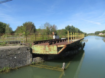 old railway swing bridge