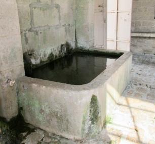 The rinsing basin