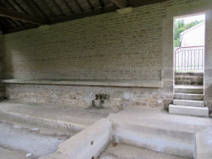Steps down into Riacourt lavoir